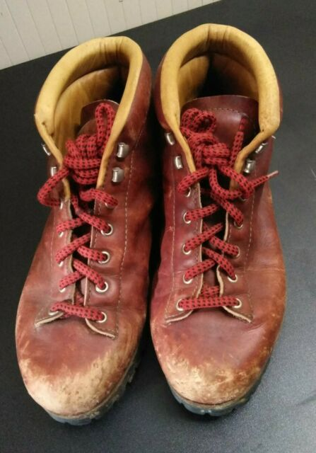 Vtg Vasque Highlander Leather Hiking Boots Mens Sz 8 1/2 Sundowner #7525
