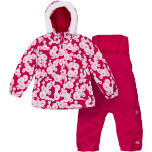 ceb00b0d3 Image is loading Trespass-Squeezy-Toddler-Ski-Suit-Raspberry