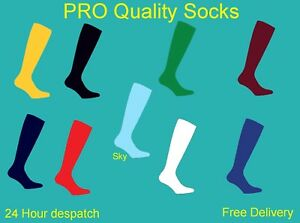 PROSTYLE-FOOTBALL-PLAIN-SOCKS-RUGBY-HOCKEY-SOCCER-FREE-DELIVERY-MENS-WOMENS-KIDS