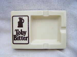 VINTAGE-TOBY-BITTER-039-OPALEX-039-GLASS-ADVERTISING-ASHTRAY-MADE-IN-FRANCE