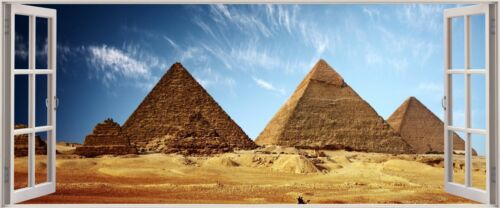 Énorme 3D Panoramique Egyptian pyramids Fenêtre View Wall Stickers Mural 284