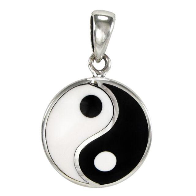 Small Sterling Silver Yin Yang Pendant Taoist Buddhist Jewelry Tao