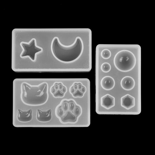 Resin jewelry mold DIY silicone crystal cat cat/'s claw moon stars heart Fad CA