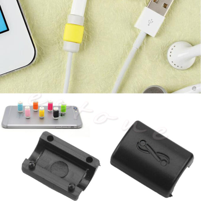 2Pcs New Lightning Charger Cable Saver Protector For iPhone 5S 6 Plus