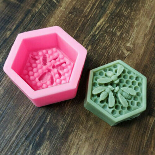 Silikonforme Gießform 3D Biene Seifen Kerzen Betongiessen Seifenform Liebhaber
