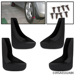 4 Mud Flaps Universal Splash Guards Fits For Many Front & Rear Includes Hardware