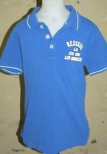 REDSKINS-JUNIOR-Garcon-10-ans-superbe-polo-manches-courtes-bleu-T-shirt-chemise