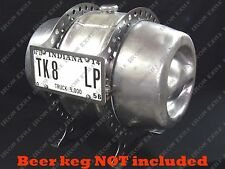 Beer Keg Gas Tank Fuel Mounting Bracket Hot Rat Rod Gasser 15.5 Gallon RAW STEEL