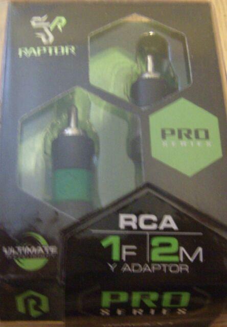 Visible Dual Twist Audio RCA Raptor R5RCA3 PRO SERIES