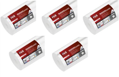 5 x Erfurt 2mm red label chaleur Saver mur isolation épaisse doublure papier 10mx50cm