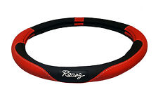 Red and Black Racing Steering Wheel Cover 14.5 inches - 15.5 inches HL627