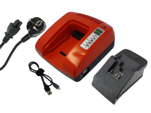 Power smart Chargeur pour Dewalt dcd790 dcd795 dcd980m2 dcd985b dcd985m2 rouge