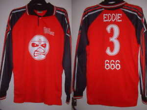 IRON-MAIDEN-FOOTBALL-SHIRT-EDDIE-ADULT-40-034-666-Jersey-Top-Vintage-Metal-Sport