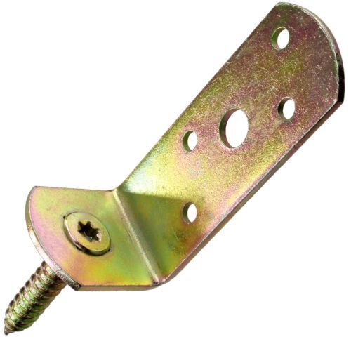 50 GAH Flechtzaunhalter L-Form 115x31,5x30x75 mm gelb verzinkt