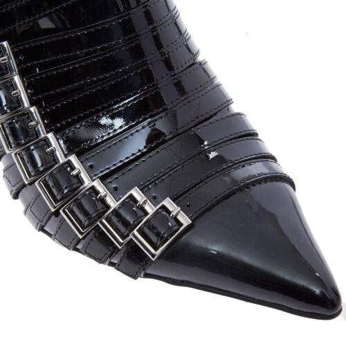 Gothic Stivaletti 39 Campbell Heel 6 con fibbia a nera punta Jeffrey Pointy gzpw5qg