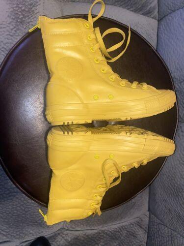 Converse Yellow All Star Hi Rise Rubber rain shoes