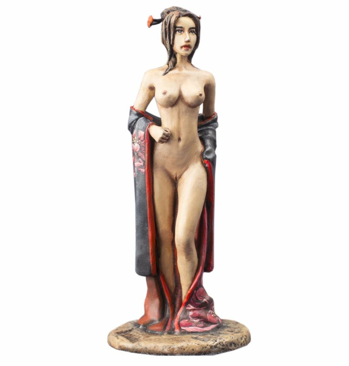 1 32 Painted Figure Naked Geisha Girl Metal Toy Soldiers 54mm Nude Woman