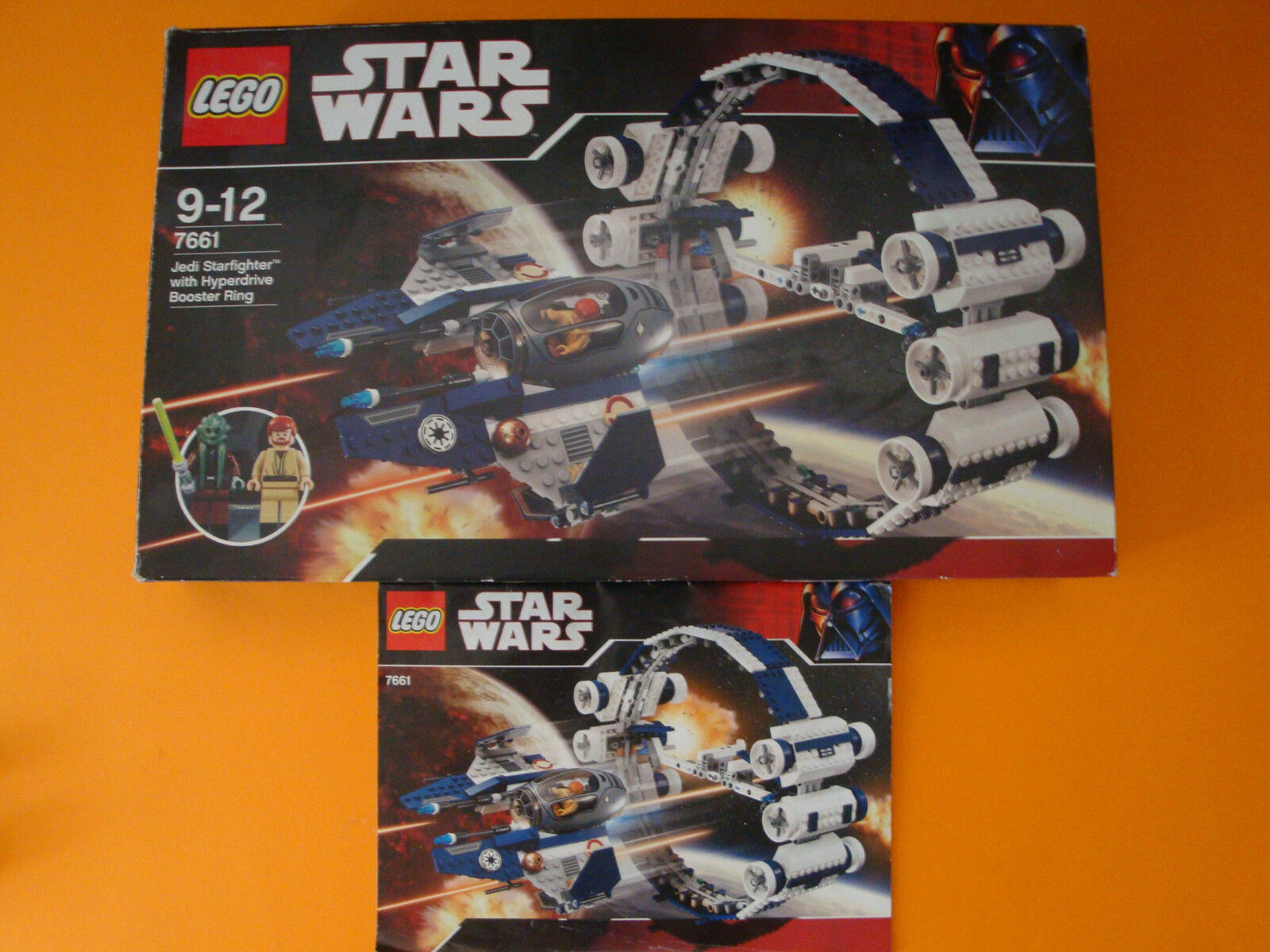 LEGO Star Wars Jedi Starfighter with with with Hyperdrive Booster Ring Nr.7661 28c3e2