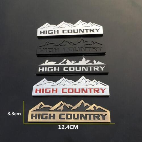 High Country Metal Emblem Badge Decal Jeep Cherokee Wrangler Renegade Compass C