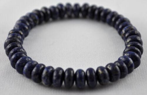 Armband aus Lapis Lazuli Edelstein-Buttons ca 8 mm