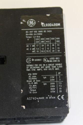 General Electric Relay TELERUTTORE cl03d400m 24vdc #as-h02