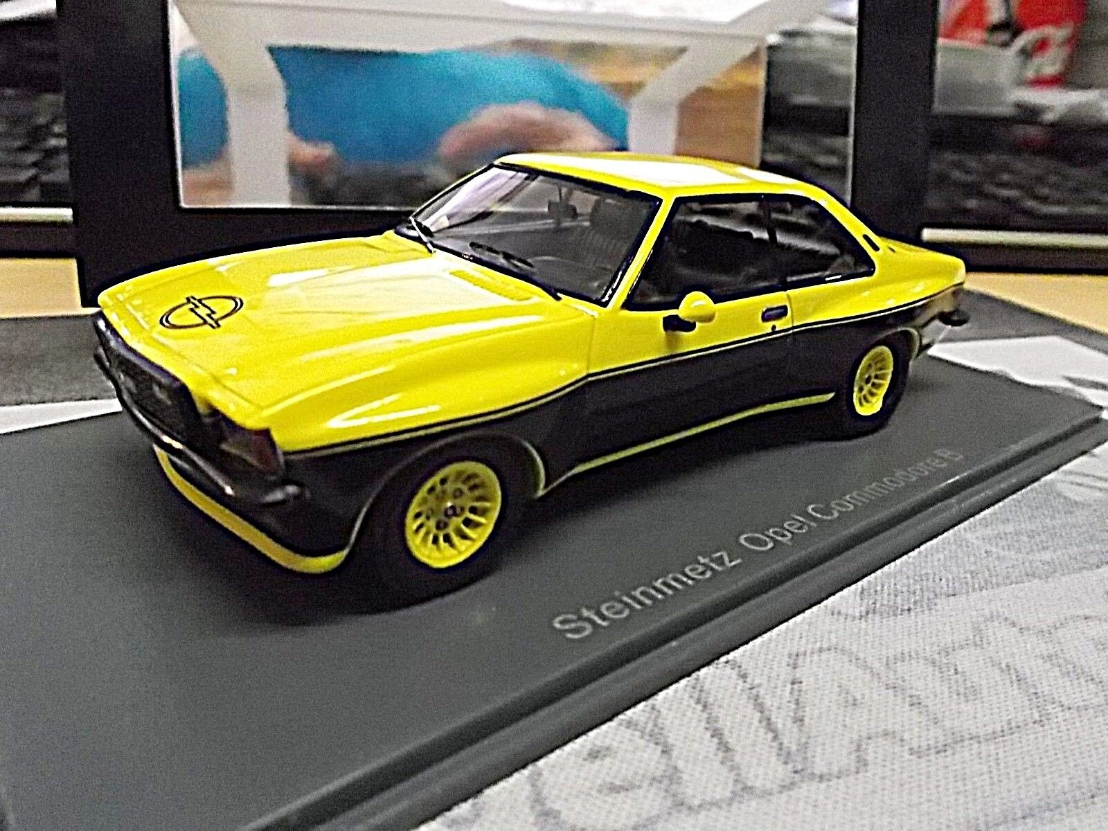 Opel Coupe cantero Commodore B GS e deporte amarillo negro rar resin neo 1 43
