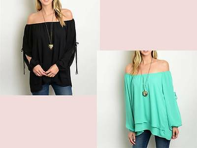 Off the Shoulder Slit Sleeves Boho Tops 2 Styles-RT3-CN290277/RT13-CN290279