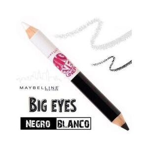 MAYBELLINE-Big-Eyes-Eyeliner-Duo-Negro-Blanco-Delineador-Ojos-Lapiz-Perfilador