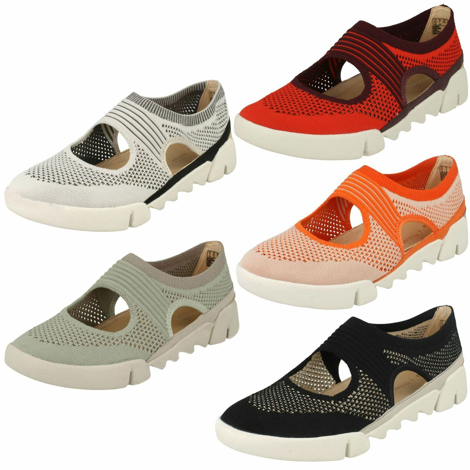 Descuento de la marca Descuento por tiempo limitado Ladies Clarks Casual Cut-Out Detailed Shoes Tri Blossom