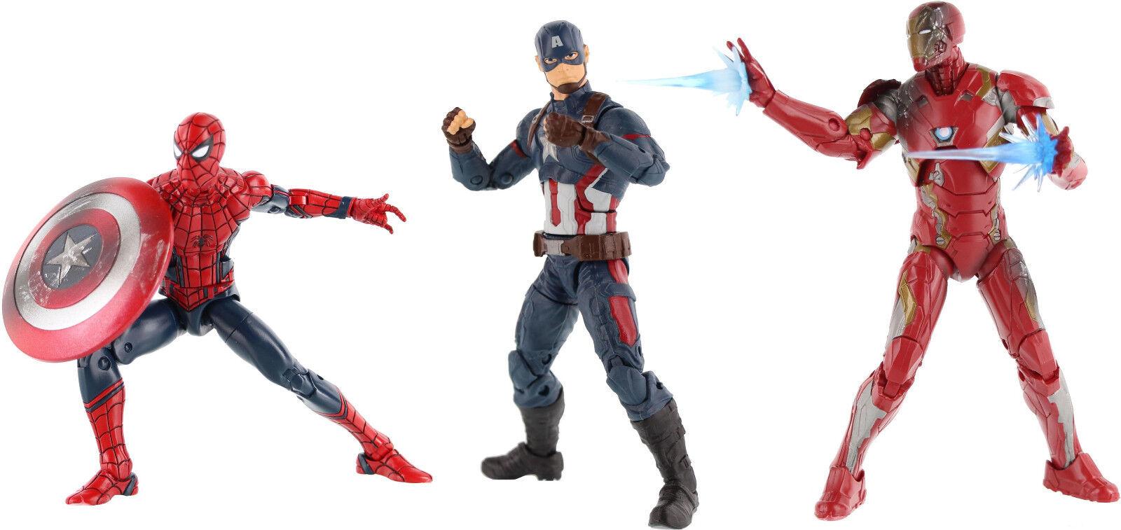 Captain america brgerkrieg marvel - legenden, spider - man, captain america und iron man