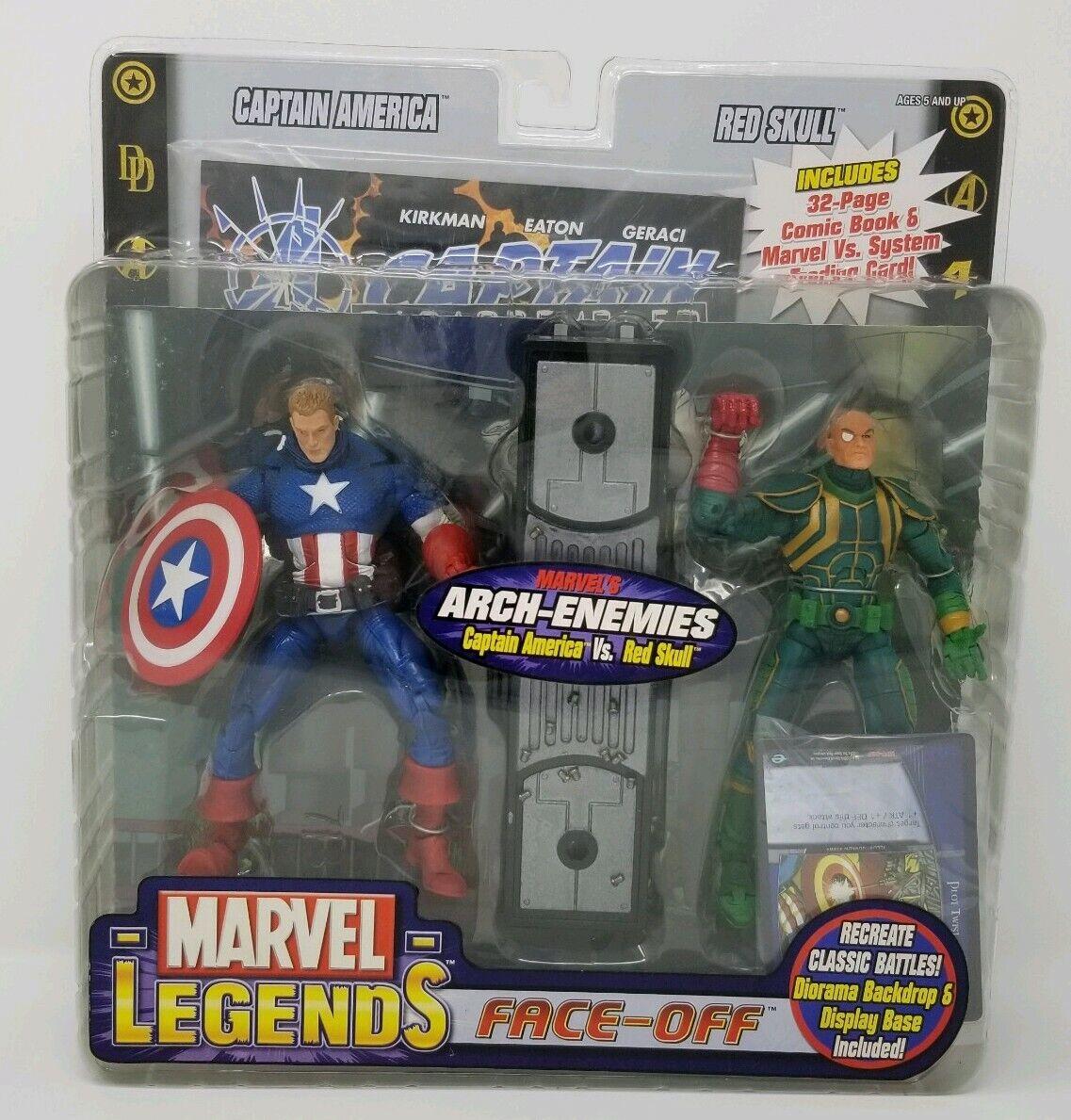 Marvel Legends Face-Off Arch Enemies  Captain America vs rosso Skull Comic NIB  online economico