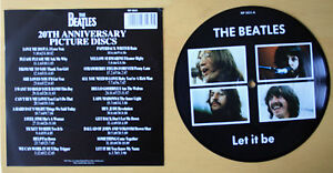 EX-EX-Beatles-Picture-Disc-7-034-Vinyl-Let-It-Be-The-20th-Anniversary