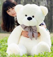 Lovely Giant Big Cute White Plush Teddy Bear Huge Soft 100% Cotton Toy 31 Uk19