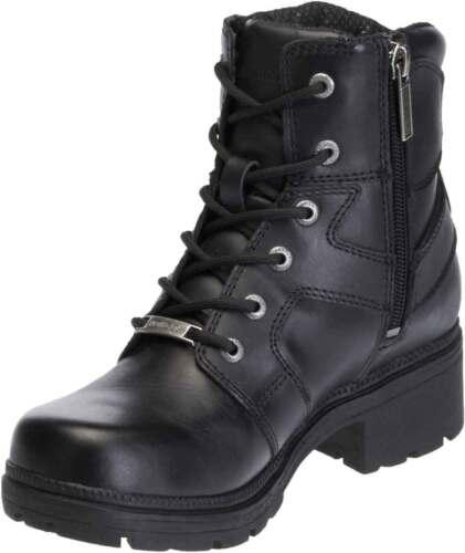 D83775 Harley-Davidson Women/'s Jocelyn 5.5-In Black Leather Motorcycle Boots
