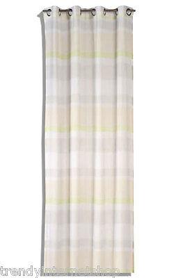 1 Fertig Gardine Schiebe Vorhang Home Vision 194697 weiß beige grün gestreift