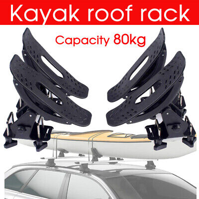 Kayak Roof Carrier >> Universal Kayak Carrier W Straps 4 Saddle Watercraft Roof
