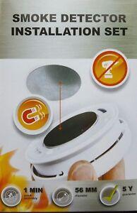 3-x-Rilevatore-di-Fumo-Supporto-Magnetico-Magnete-Montaggio-Set-3M-Supporto