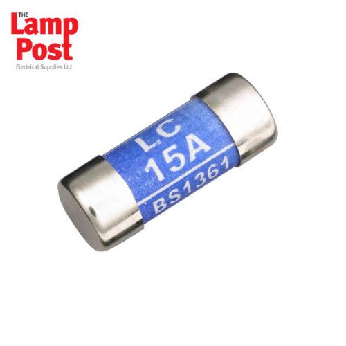 10 x 15A 15 Amp Consumer Unit Fuse LC15 BS1361