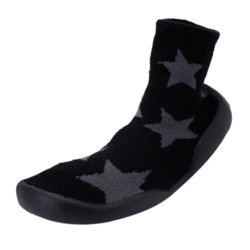 Baby Toddler Cotton Sock Shoes,Soft Anti Slip Sole Winter Knit Socks Boots
