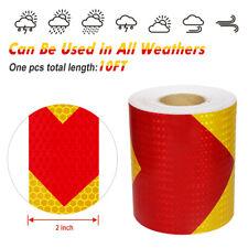 Safety Warning Hi Vis Viz Reflective Stickers Vinyl Self Adhesive Tape 10ft Roll