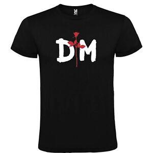 T-Shirt-Roly-Noire-Depeche-Mode-Logo-Tailles-S-M-L-XL-XXL-XXXL-100-Coton-Coton
