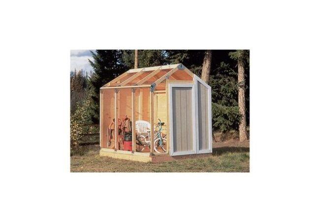 storage shed kit building barn outdoor wood framing diy garage