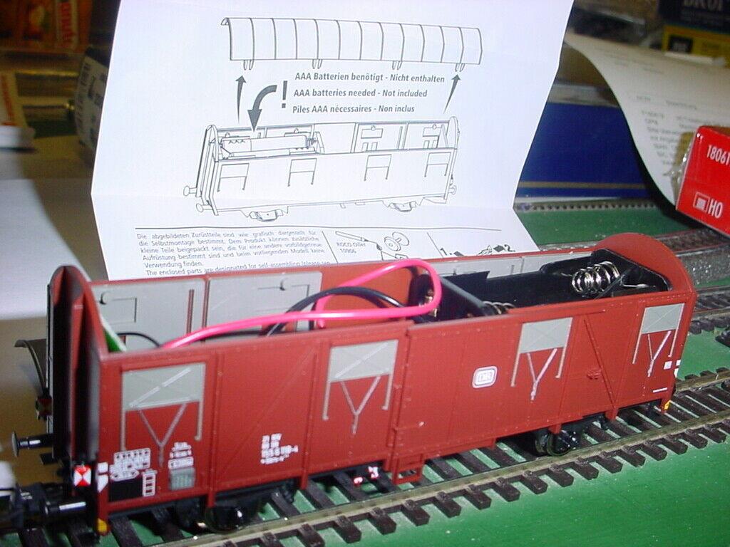 For Märklin Roco 76614 Freight Car with Tail Light DB EP 4 Optional Wheelsets