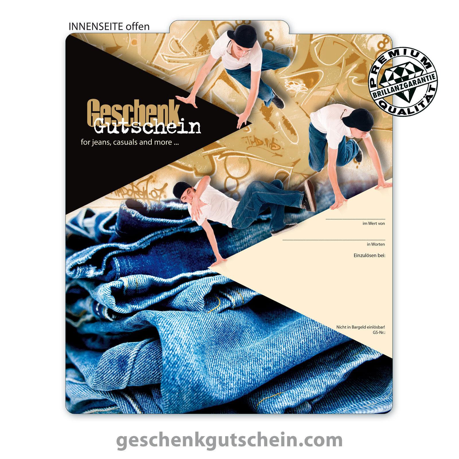 Premium Faltgutscheine  MultiFarbe  für Mode Bekleidung Jeansstore FA236  | Stabile Qualität  | Maßstab ist der Grundstein, Qualität ist Säulenbalken, Preis ist Leiter