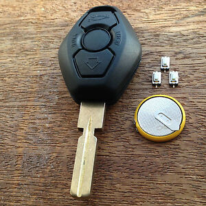 Bmw E46 E39 E38 3 5 7 Z3 M3 M5 Remote Key Fob Full Repair Kit With