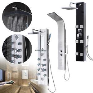 LED Duschpaneel Duschsystem Duscharmatur Duschsäule Bad Regendusche Edelstahl DE