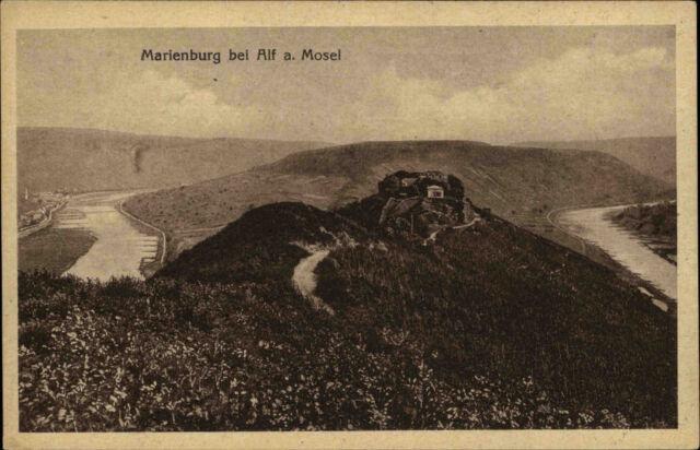 Marienburg bei Alf an der Mosel  Ansichtskarte 1917 datiert Blick auf die Burg