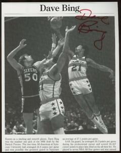 DAVE BING signed 8x10 book photo (BULLETS/PISTONS - AUTOGRAPH) HOF