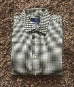 0047b4471c61 NEXT Shirting Men's Black/White Check Print Shirt Slim Fit UK Size ...