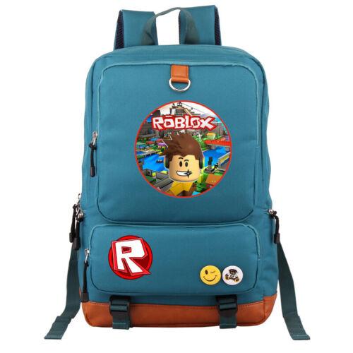 Game Roblox School Bag Kids Teens Backpack Anime Shoulder Travel Laptop Bags New
